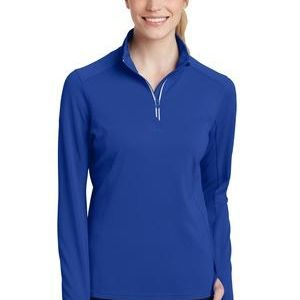 Ladies Sport Wick ® Textured 1/4 Zip Pullover Thumbnail