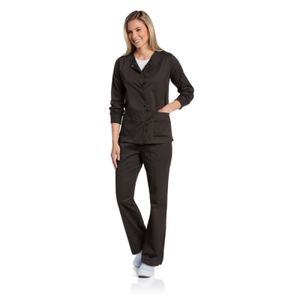 3507 WOMEN'S SCRUB WARM-UP JACKET BLACK Thumbnail